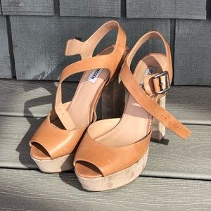Steve Madden leather platform heels